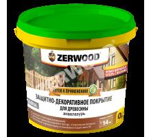 Аквалазурь деревозащита белый 0,9л дуб ZERWOOD