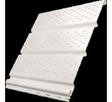 Софит белый 0,3*3м перфорированный полностью Ю-пласт