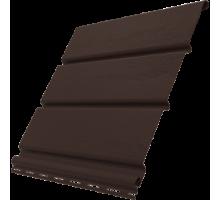 Софит коричневый 0,3*3м без перф. Ю-Пласт