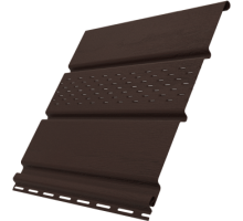 Софит коричневый 0,3*3м частично перфориров. Ю-Пласт