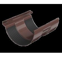 Соединитель желоба металл водосток коричневый