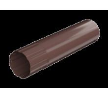 Труба водосточная металл 90мм 1м.п. коричневый