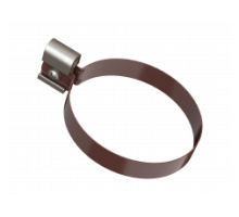 Хомут трубы металл коричневый