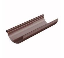 Желоб водосточный металлический 125мм 3 м.п. коричневый