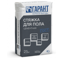 Стяжка цементная для пола ГАРАНТ 25кг Гипсополимер