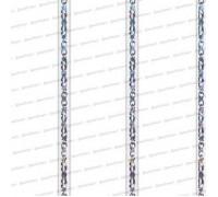 Панель трехсекционная Элегия белая 0,24*3м