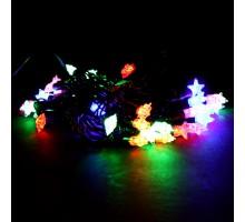 Гирлянда 40 диодов Звездочки 1реж. 5м разноцветн. Briliante