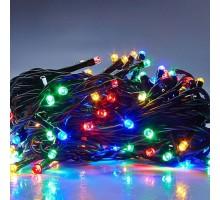 Гирлянда 100 ламп,8 реж, 3,7м  разноцветная Brilliante
