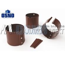 """Кронштейн трубы """"крепление к дереву"""" 125*90мм Шоколад OSNO Металлкомплект"""