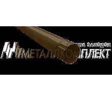 Труба соеденительная 1м 125*90мм Шоколад OSNO Металлкомплект