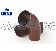 Угловое колено 60гр 125*90мм Шоколад OSNO Металлкомплект