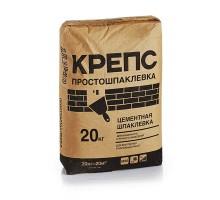 Шпаклевка Крепс Простошпаклевка финишная белая цементная 20кг